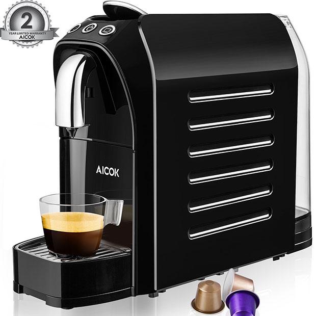 Aicok Espresso Machine for Nespresso Compatible Capsule